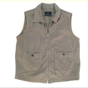 Womens AG ADRIANO GOLDSCHMIED Solid Beige vest